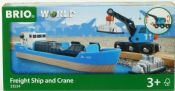 BRIO 33534 Container Ship & Crane Wagon